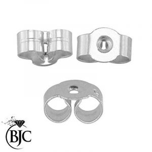 BJC Paire de 9 Ct Or blanc estampé Boucles d'oreilles Fermoirs papillon clous Post dos 5mm de la marque Beautiful Jewellery Company Ltd (BJC®) image 0 produit