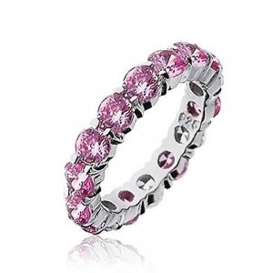 Bling Jewelry Argent Sterling Rose CZ empilable Eternity Ring de la marque Bling Jewelry image 0 produit