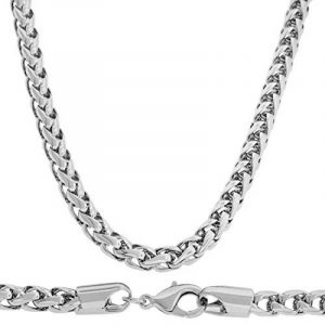 collier homme grosse maille argent