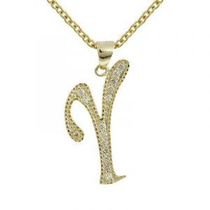 Collier initiale or blanc, top 14 TOP 4 image 0 produit