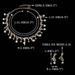 EVER FAITH® Plaqué Or Double Nœuds Infini Perle Artificielle Cristal Autrichien Parures Bijoux Transparent N06386-2 de la marque Ever Faith image 3 produit
