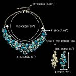 EVER FAITH® Vague Papillon Collier Plastron Boucle d'Oreilles Parures Cristal Autrichien de la marque Ever Faith image 3 produit