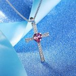 "GEORGE SMITH ""Lord Bless You"" Collier pendentif en croix Colliers en diamant Ruby Crystal de Swarovski, Women Jewelry Gifts pour elle de la marque GEORGE SMITH image 1 produit"