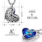 LADY COLOUR - I love you to the moon and back - Collier Femme - cristaux de SWAROVSKI® - la collection CRISTAL COEUR de la marque LADY COLOUR image 1 produit