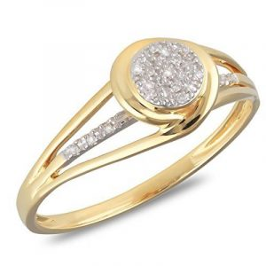 So Diamond Paris-Bague-Diamants-Or Jaune 9 carats 375/000-Femme de la marque So Diamond Paris image 0 produit