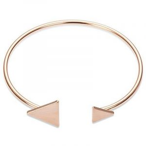 SWEETIEE - Braclelt Femme ouvert simple Plaque Or 18k ,Ornement moderne deux Triangles mignion, Or Rose, 190mm de la marque Sweetiee image 0 produit